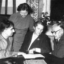 Chemin-Petit, Elsbet Hildebrand, Meta Wiesert und Walter Altmann