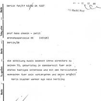 zum 70. Geburtstag am 24. Juli 1972