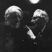 Gottfried von Einem und Hans Chemin-Petit 1976
