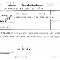 Berliner Kunstpreis 1964