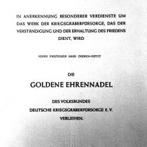 Ehrennadel des Volksbundes Deutsche Kriegsgräberfürsorge e.V.
