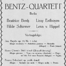 Bentz-Quartett, 1925