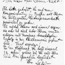 Brief von Paul Juon
