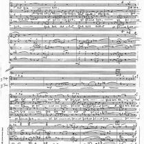 Partiturautograph der Symphonischen Kantate